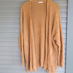 Maurice's open knit Mustard Colored Cardigan 3X